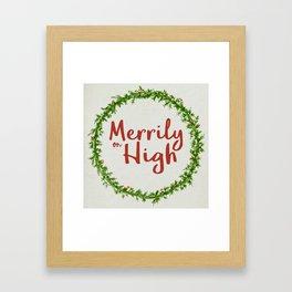 Merrily on High Framed Art Print