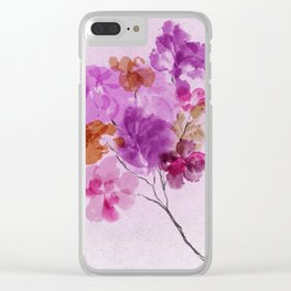 A Floral Sprig Clear iPhone Case