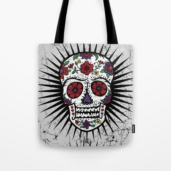 Sugar Skull Star Tote Bag