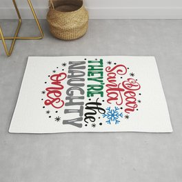 Dear Santa They're The Naughty Ones (2) Rug