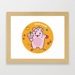 Plump Planet Candy Framed Art Print