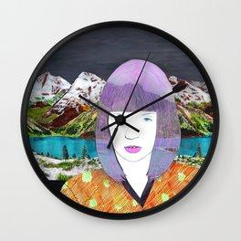 The girl by the lake by Veronique de Jong Wall Clock