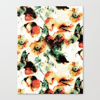 Canvas Prints featuring Flowers And Butterflies by RIZA PEKER