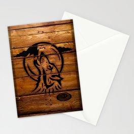 Darrell Merrill Nerd Artist: Wooden Wolf Two Stationery Cards