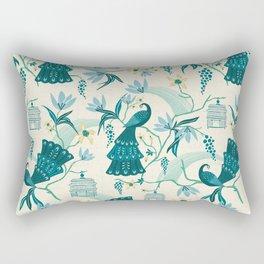 Aviary - Cream Rectangular Pillow