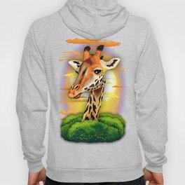 Giraffe on Wild African Savanna Sunset Hoody