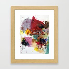 Love NEVER FAILS Scripture Bible Verse Abstract Art Painting by Michel Keck Framed Art Print