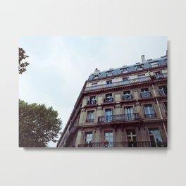 PARISIAN FACADES. Metal Print