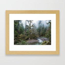 A Creek Runs Through It Framed Art Print