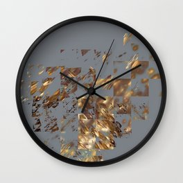 Bronze on Gray Square #abstract #society6 #decor #geometry Wall Clock