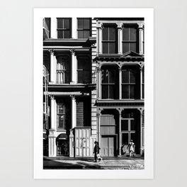 New York City, Soho Series, Black & White 3 Art Print