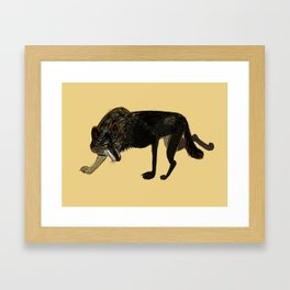 Black wolf totem Framed Art Print