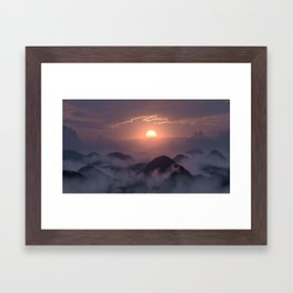Peace in the Valley Framed Art Print