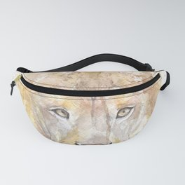 "Watercolor Painting of Picture ""African Lion"" Fanny Pack"