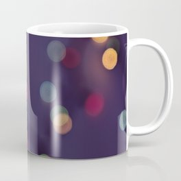 Blurred background with multicolored lights of garland Coffee Mug