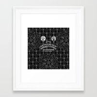 ouija Framed Art Prints featuring OUIJA by DIVIDUS DESIGN STUDIO