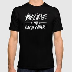 Take Care of Each Other, Part 3 Black Mens Fitted Tee MEDIUM