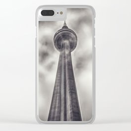 Tower in the Mist Clear iPhone Case