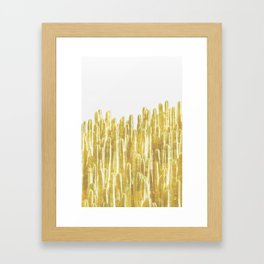 Golden Cactus Framed Art Print