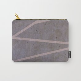 Geometric Pink Concrete Carry-All Pouch