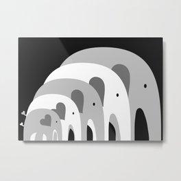 Nested Elephants Metal Print