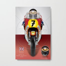 Barry Sheene 500cc 1976 MotoGP Metal Print