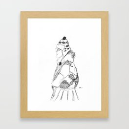 Lady in Winter Framed Art Print