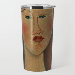 """Amedeo Modigliani """"Femme aux cheveux rouge (Woman with Red Hair)"""" Travel Mug"""