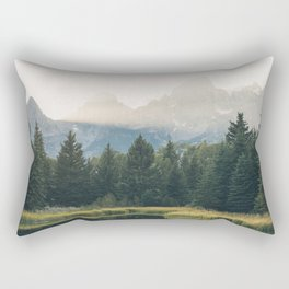 Morning at the lake Rectangular Pillow
