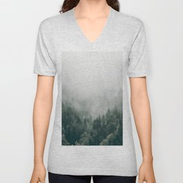 Foggy Forest 3 Unisex V-Neck