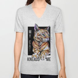 My Cat Kneads Me Unisex V-Neck