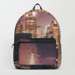 New York City - Chrysler Building Lights Backpack