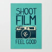 film Canvas Prints featuring Shoot Film by Victor Vercesi