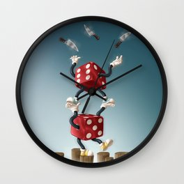 A Dicey Situation Wall Clock