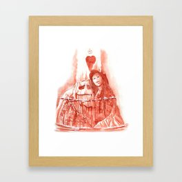 .I lava you. Framed Art Print