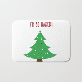 I'm so Naked! Xmas Tree Bath Mat
