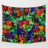 metropolis Wall Tapestries featuring Toon Metropolis by Glanoramay