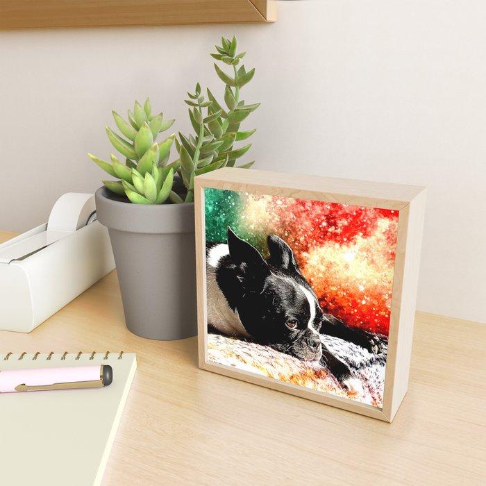 Boston Terrier (Jake) Framed Mini Art Print