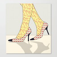 shoes Canvas Prints featuring Shoes by Ben Geiger