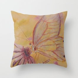 Little mirror butterfly | Petit Miroir papillon Throw Pillow