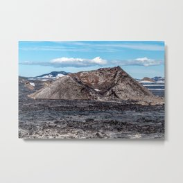 Krafla Lava fields - Iceland Metal Print