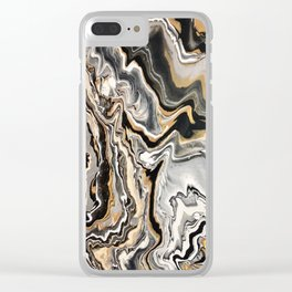 Gold Mine Marble Clear iPhone Case
