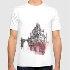 the castle Mens Fitted Tee White MEDIUM
