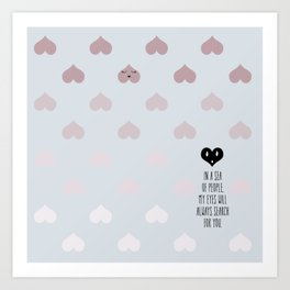 SEA OF HEARTS Art Print