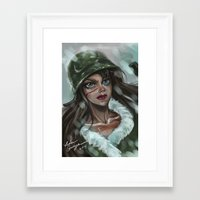 winter soldier Framed Art Prints featuring Winter Soldier by Soggykitten™
