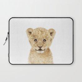 Baby Lion Cub Portrait Laptop Sleeve