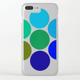 Cool Science Circles Clear iPhone Case
