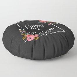 Carpe That Fucking Diem, Pretty Funny Quote Floor Pillow