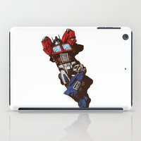 optimus prime iPad Cases featuring Optimus  by Sergey Yaroshenko