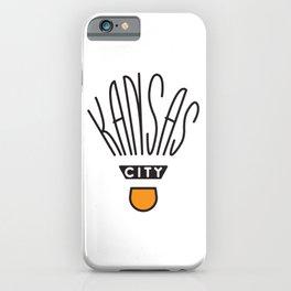 Kansas City Shuttlecock Type iPhone Case